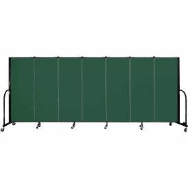 "Screenflex 7 Panel Portable Room Divider, 5'H x 13'1""L, Fabric Color: Mallard"