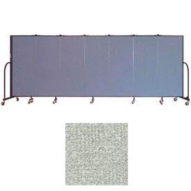 """Screenflex 7 Panel Portable Room Divider, 5'H x 13'1""""L, Vinyl Color: Mint"""