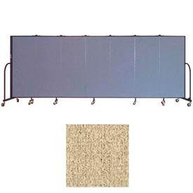 """Screenflex 7 Panel Portable Room Divider, 5'H x 13'1""""L, Vinyl Color: Sandalwood"""