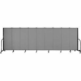 "Screenflex 9 Panel Portable Room Divider, 5'H x 16'9""L, Fabric Color: Stone"