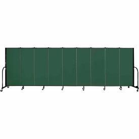 "Screenflex 9 Panel Portable Room Divider, 5'H x 16'9""L, Fabric Color: Mallard"