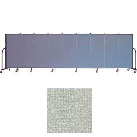 """Screenflex 9 Panel Portable Room Divider, 5'H x 16'9""""L, Vinyl Color: Mint"""