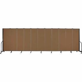 "Screenflex 11 Panel Portable Room Divider, 6'H x 20'5""L, Fabric Color: Walnut"