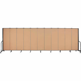 "Screenflex 11 Panel Portable Room Divider, 6'H x 20'5""L, Fabric Color: Wheat"