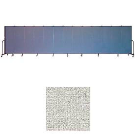 "Screenflex 11 Panel Portable Room Divider, 6'H x 20'5""L, Vinyl Color: Granite"