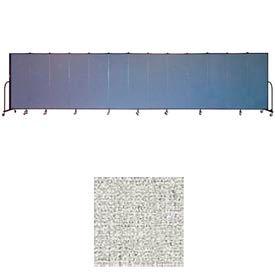 "Screenflex 11 Panel Portable Room Divider, 6'H x 20'5""L, Vinyl Color: Granite"