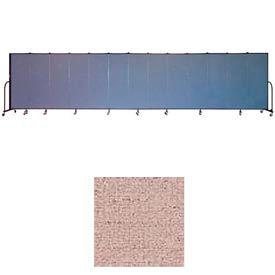 "Screenflex 11 Panel Portable Room Divider, 6'H x 20'5""L, Vinyl Color: Raspberry Mist"