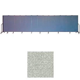 """Screenflex 11 Panel Portable Room Divider, 6'H x 20'5""""L, Vinyl Color: Mint"""