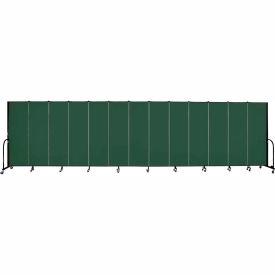 "Screenflex Portable Room Divider - 13 Panel - 6'H x 24'1""L -  Green"