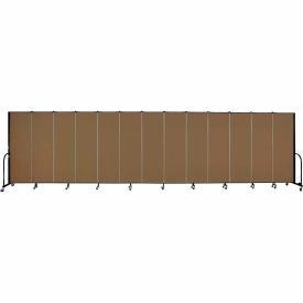 "Screenflex Portable Room Divider - 13 Panel - 6'H x 24'1""L -  Oatmeal"