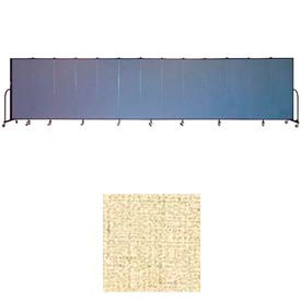 "Screenflex 13 Panel Portable Room Divider, 6'H x 24'1""L, Vinyl Color: Hazelnut"