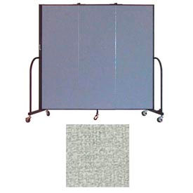 """Screenflex 3 Panel Portable Room Divider, 6'H x 5'9""""L, Vinyl Color: Mint"""