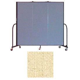 "Screenflex 3 Panel Portable Room Divider, 6'H x 5'9""L, Vinyl Color: Hazelnut"
