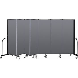 "Screenflex Portable Room Divider - 7 Panel - 6'H x 13'1""L - Stone"