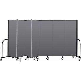 "Screenflex Portable Room Divider - 7 Panel - 6'H x 13'1""L - Stone"
