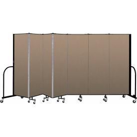 "Screenflex 7 Panel Portable Room Divider, 6'H x 13'1""L, Fabric Color: Desert"
