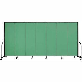 "Screenflex 7 Panel Portable Room Divider, 6'H x 13'1""L, Fabric Color: Sea Green"