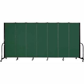 "Screenflex 7 Panel Portable Room Divider, 6'H x 13'1""L, Fabric Color: Green"