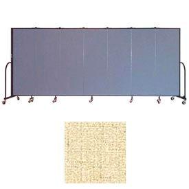 "Screenflex 7 Panel Portable Room Divider, 6'H x 13'1""L, Vinyl Color: Hazelnut"