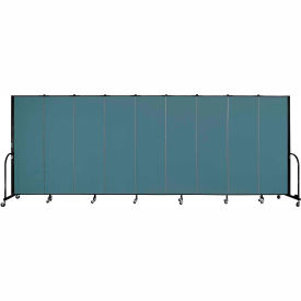 "Screenflex Portable Room Divider - 9 Panel - 6'H x 16'9""L - Lake"