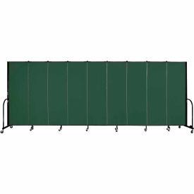 "Screenflex Portable Room Divider - 9 Panel - 6'H x 16'9""L - Mallard"
