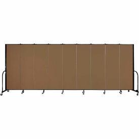 "Screenflex 9 Panel Portable Room Divider, 6'H x 16'9""L, Fabric Color: Walnut"