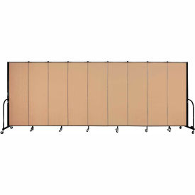 "Screenflex 9 Panel Portable Room Divider, 6'H x 16'9""L, Fabric Color: Desert"