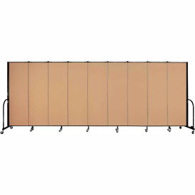 "Screenflex 9 Panel Portable Room Divider, 6'H x 16'9""L, Fabric Color: Sand"