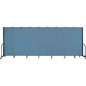 "Screenflex 9 Panel Portable Room Divider, 6'H x 16'9""L, Fabric Color: Blue"