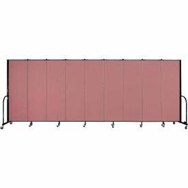 """Screenflex Portable Room Divider - 9 Panel - 6'H x 16'9""""L - Mauve"""