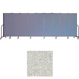 "Screenflex 9 Panel Portable Room Divider, 6'H x 16'9""L, Vinyl Color: Granite"