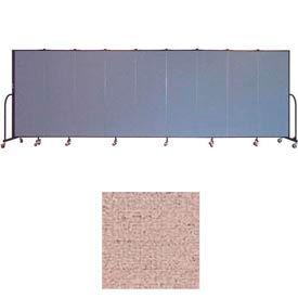 "Screenflex 9 Panel Portable Room Divider, 6'H x 16'9""L, Vinyl Color: Raspberry Mist"