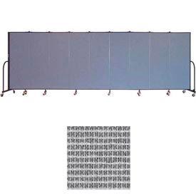 """Screenflex 9 Panel Portable Room Divider, 6'H x 16'9""""L, Vinyl Color: Mint"""