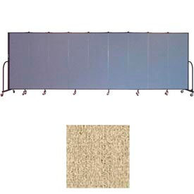 """Screenflex 9 Panel Portable Room Divider, 6'H x 16'9""""L, Vinyl Color: Sandalwood"""