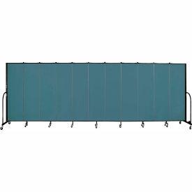 "Screenflex 11 Panel Portable Room Divider, 6'8""H x 20'5""L, Fabric Color: Lake"