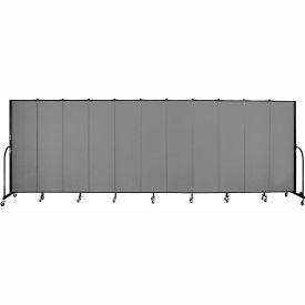 "Screenflex 11 Panel Portable Room Divider, 6'8""H x 20'5""L, Fabric Color: Stone"