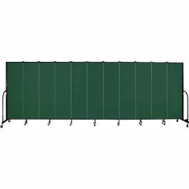 "Screenflex 11 Panel Portable Room Divider, 6'8""H x 20'5""L, Fabric Color: Mallard"
