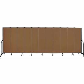 "Screenflex 11 Panel Portable Room Divider, 6'8""H x 20'5""L, Fabric Color: Walnut"