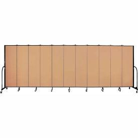 "Screenflex 11 Panel Portable Room Divider, 6'8""H x 20'5""L, Fabric Color: Desert"