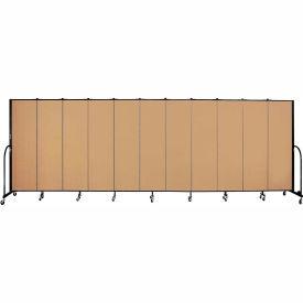 "Screenflex 11 Panel Portable Room Divider, 6'8""H x 20'5""L, Fabric Color: Sand"