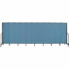 "Screenflex 11 Panel Portable Room Divider, 6'8""H x 20'5""L, Fabric Color: Blue"