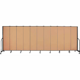 "Screenflex 11 Panel Portable Room Divider, 6'8""H x 20'5""L, Fabric Color: Wheat"