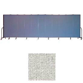 "Screenflex 11 Panel Portable Room Divider, 6'8""H x 20'5""L, Vinyl Color: Granite"