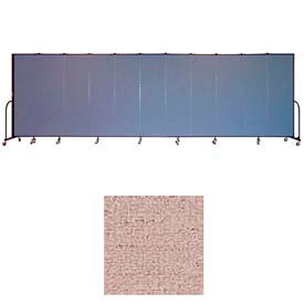 "Screenflex 11 Panel Portable Room Divider, 6'8""H x 20'5""L, Vinyl Color: Raspberry Mist"