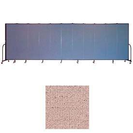 "Screenflex 11 Panel Portable Room Divider, 6'8""H x 20'5""L, Vinyl Color: Raspberry Mist"