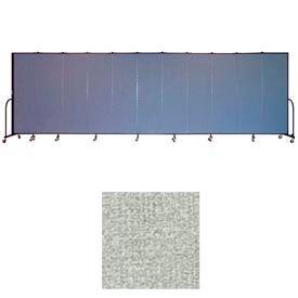"""Screenflex 11 Panel Portable Room Divider, 6'8""""H x 20'5""""L, Vinyl Color: Mint"""