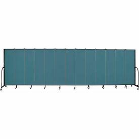 "Screenflex 13 Panel Portable Room Divider, 6'8""H x 24'1""L, Fabric Color: Lake"