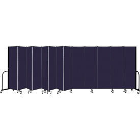 """Screenflex 13 Panel Portable Room Divider, 6'8"""" H x 24'1"""" L, Fabric Color: Navy"""