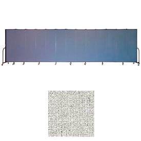 "Screenflex 13 Panel Portable Room Divider, 6'8""H x 24'1""L, Vinyl Color: Granite"