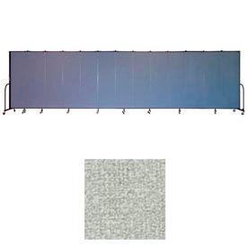 """Screenflex 13 Panel Portable Room Divider, 6'8""""H x 24'1""""L, Vinyl Color: Mint"""